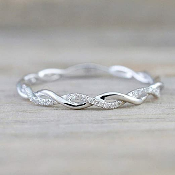 Jewelry - Twist Ring for Women Fashion 925 Sterling Silver